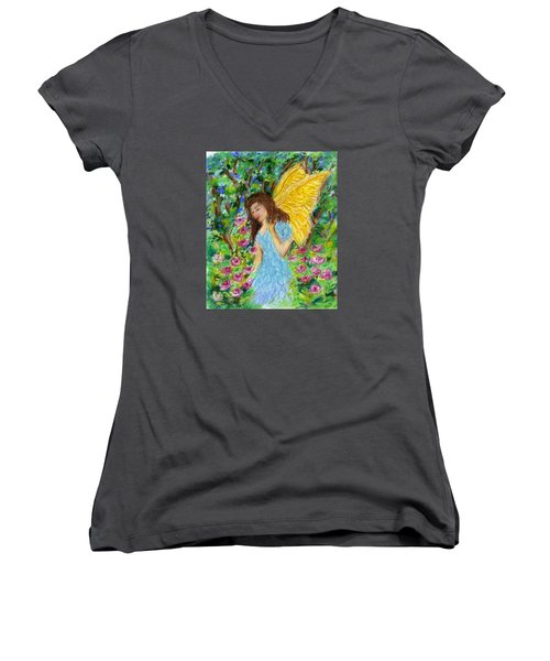 Angel Of The Garden Women's V-Neck (Athletic Fit)
