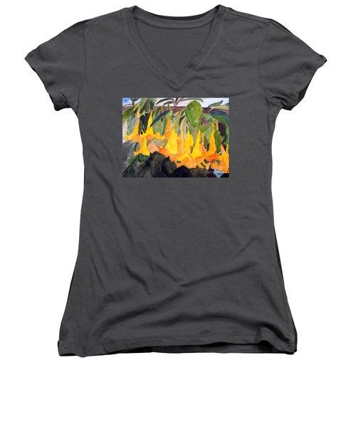 Angel Trumpets Women's V-Neck T-Shirt