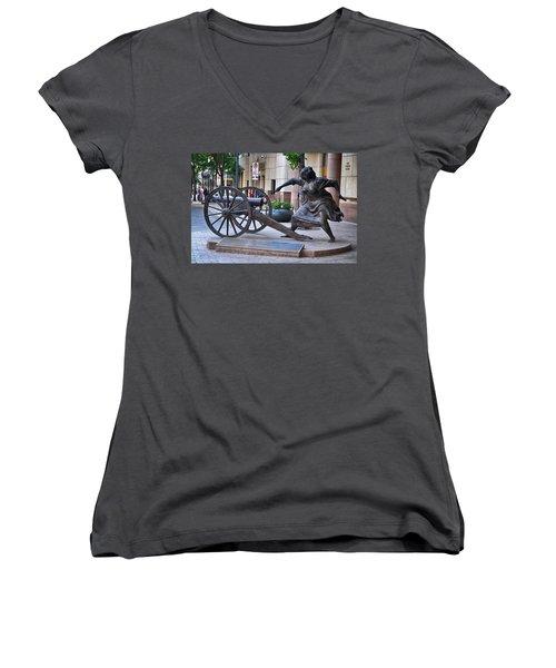 Angelina Eberly Of Austin Women's V-Neck T-Shirt