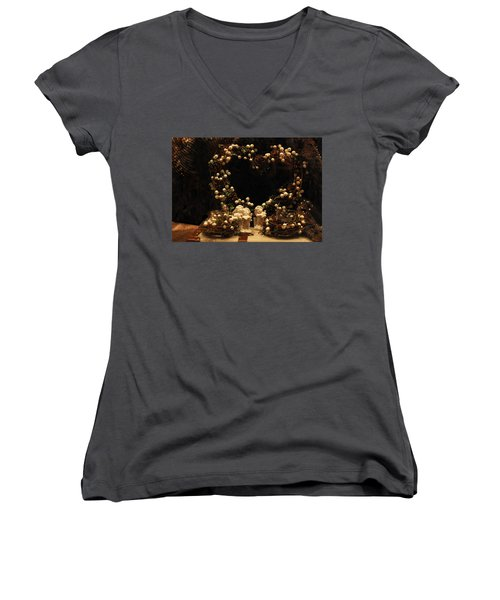 Angels Singing  Women's V-Neck T-Shirt (Junior Cut) by Gina Dsgn