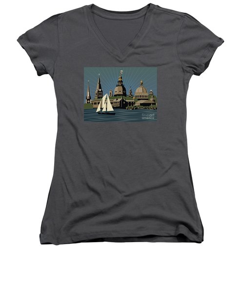 Annapolis Steeples And Cupolas Serenity Women's V-Neck T-Shirt