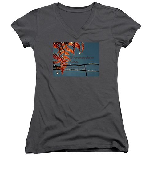 Another Chance Women's V-Neck T-Shirt (Junior Cut) by Micki Findlay