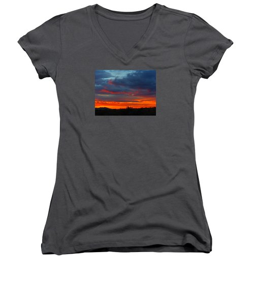 Another Masterpiece Created By The Hand Of Our Creator. Women's V-Neck (Athletic Fit)