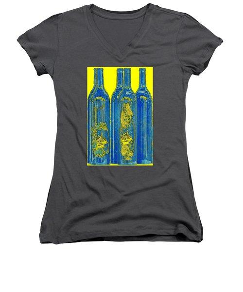 Antibes Blue Bottles Women's V-Neck