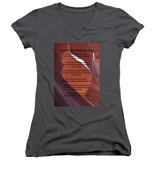 Apache Wedding Blessing On Canyon Photo Women's V-Neck T-Shirt