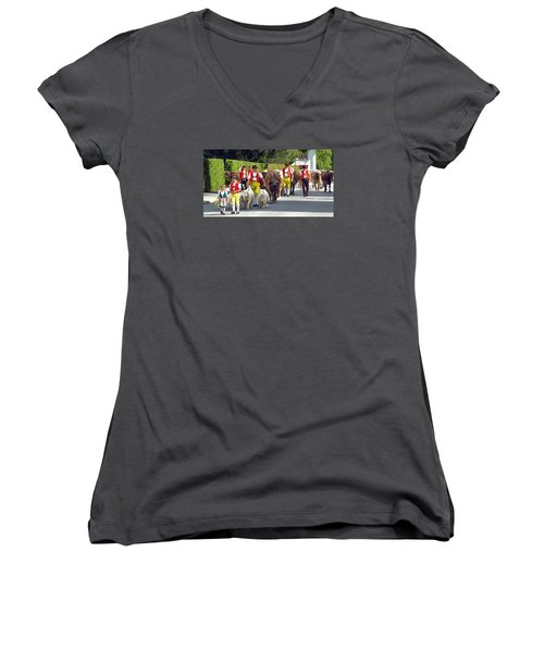 Appenzell Parade Of Cows Women's V-Neck (Athletic Fit)