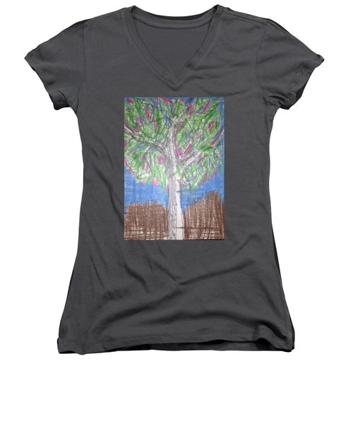 Apple Tree Women's V-Neck T-Shirt