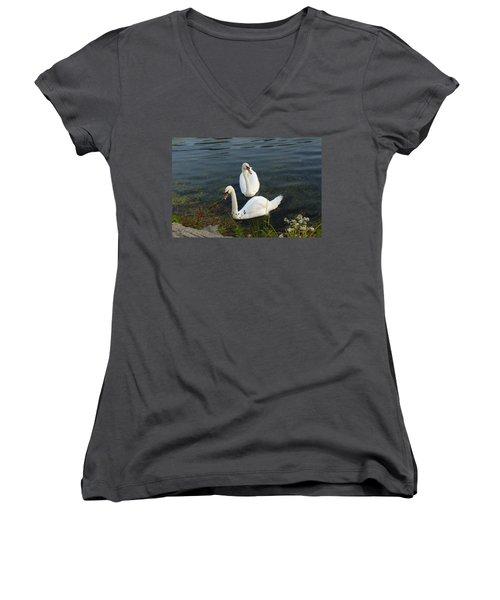 Women's V-Neck T-Shirt (Junior Cut) featuring the photograph Appreciation Of Love by Lingfai Leung
