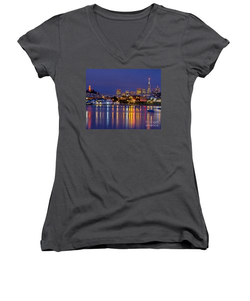 Aquatic Park Blue Hour Women's V-Neck (Athletic Fit)