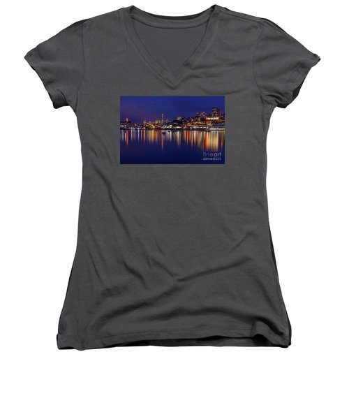 Aquatic Park Blue Hour Wide View Women's V-Neck (Athletic Fit)