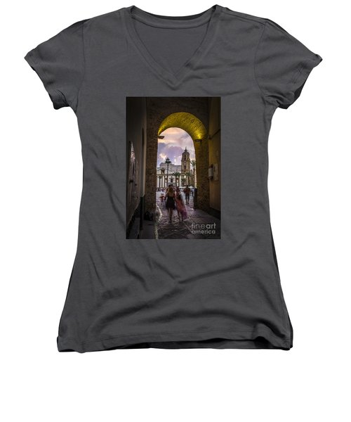 Arc Of The Rose Cadiz Spain Women's V-Neck (Athletic Fit)