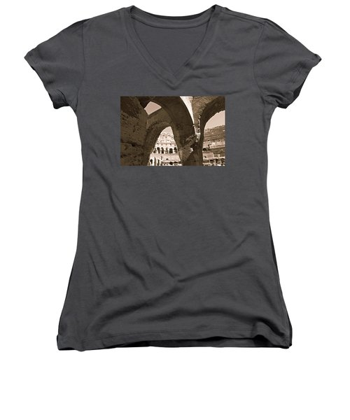 Arches In The Colosseum Women's V-Neck
