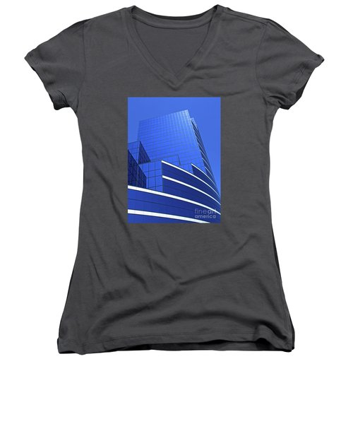 Architectural Blues Women's V-Neck T-Shirt