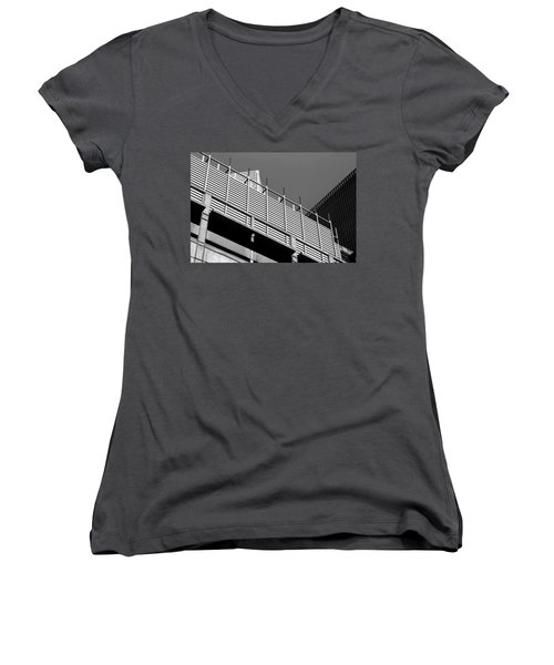 Architectural Lines Black White Women's V-Neck