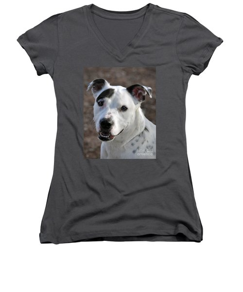 Women's V-Neck T-Shirt (Junior Cut) featuring the photograph Are You Looking At Me? by Savannah Gibbs