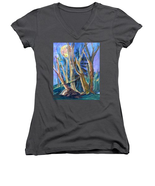 Armageddon Or Twilight Coming Women's V-Neck T-Shirt