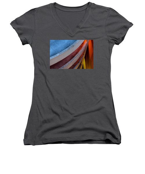 Around And Down Women's V-Neck T-Shirt (Junior Cut) by Greg Allore