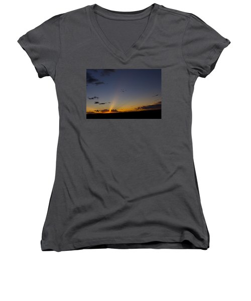 As Night Falls Women's V-Neck (Athletic Fit)