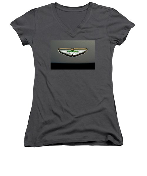 Aston Martin Emblem Women's V-Neck