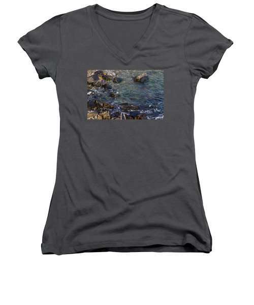 Atlantic Ocean Maine Women's V-Neck (Athletic Fit)