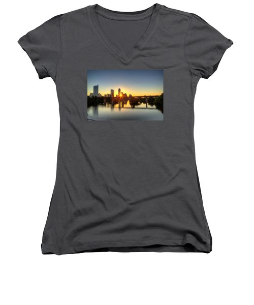 Austin Sunrise Women's V-Neck T-Shirt