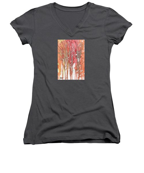 Autumn Abstract No.1 Women's V-Neck (Athletic Fit)