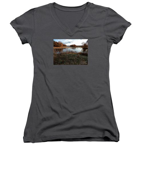 Autumn Colors Women's V-Neck T-Shirt