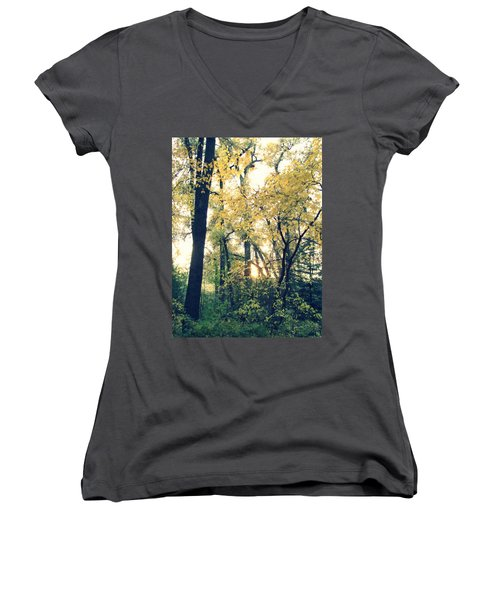 Autumn Evening Women's V-Neck (Athletic Fit)