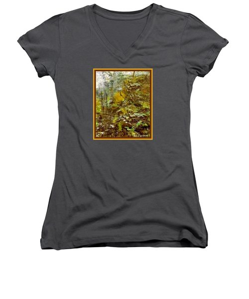 Autumn Impressions Women's V-Neck T-Shirt (Junior Cut) by Ray Tapajna