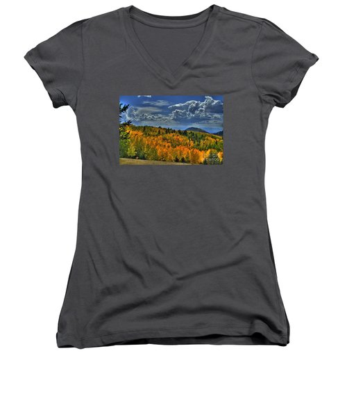 Autumn In Colorado Women's V-Neck (Athletic Fit)