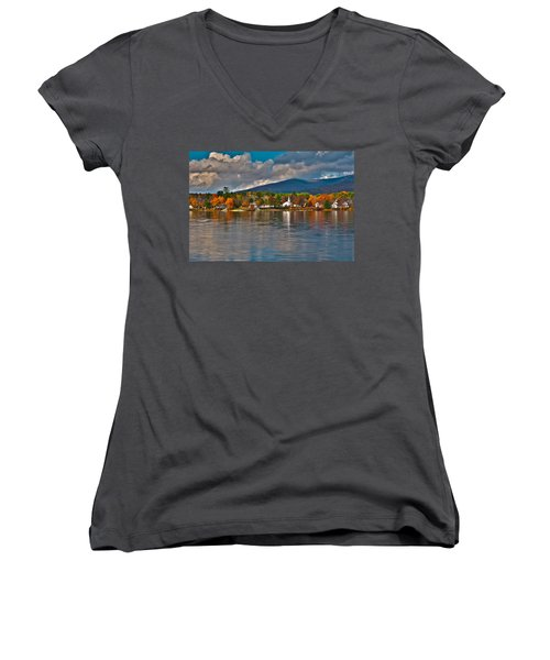 Autumn In Melvin Village Women's V-Neck T-Shirt