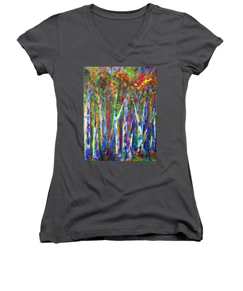 Autumn In Muskoka Women's V-Neck