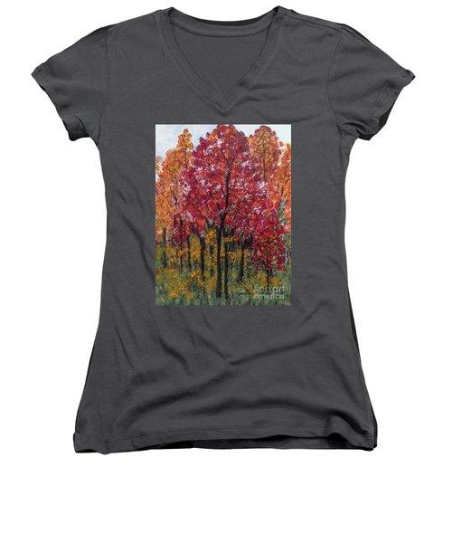 Autumn In Nashville Women's V-Neck