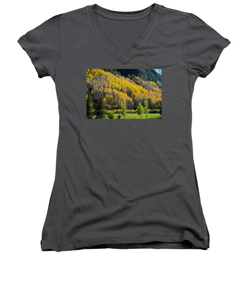 Autumn On The Links Women's V-Neck (Athletic Fit)