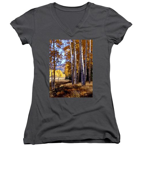 Autumn Paint Chama New Mexico Women's V-Neck