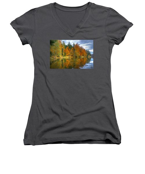 Autumn Reflection Women's V-Neck (Athletic Fit)