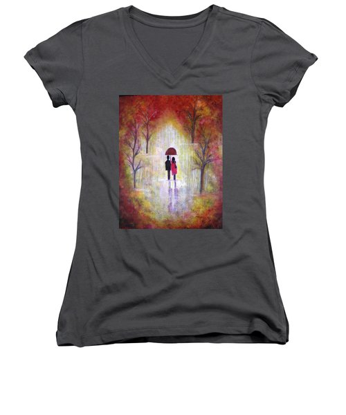 Autumn Romance Women's V-Neck T-Shirt