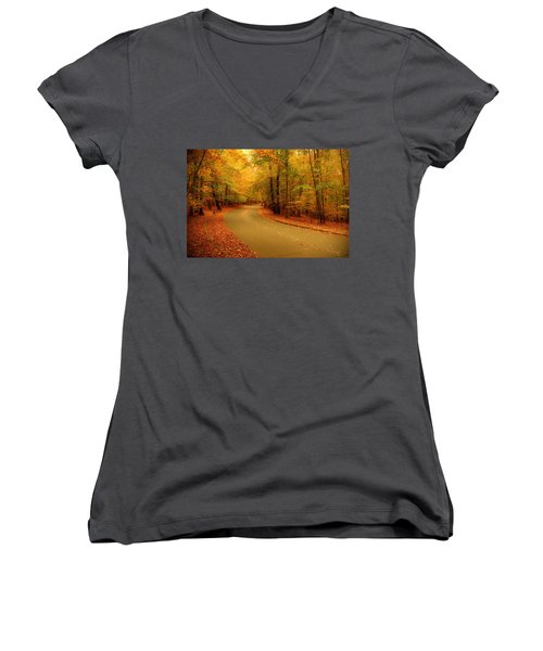 Autumn Serenity - Holmdel Park  Women's V-Neck