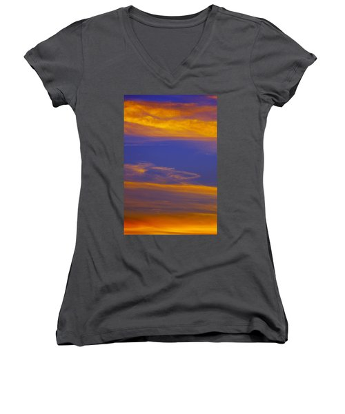 Autumn Sky Portrait Women's V-Neck (Athletic Fit)