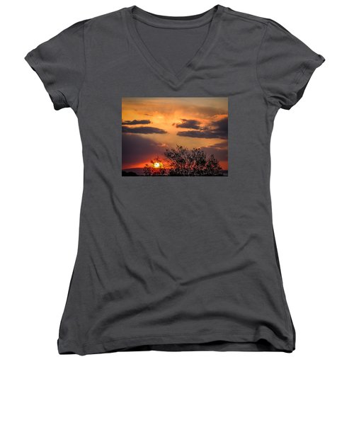 Autumn Sunrise Women's V-Neck