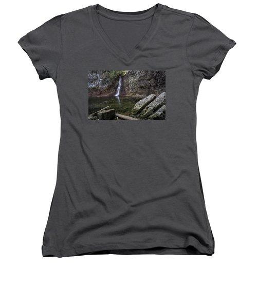 Autumn Swirls Women's V-Neck T-Shirt (Junior Cut) by James Dean