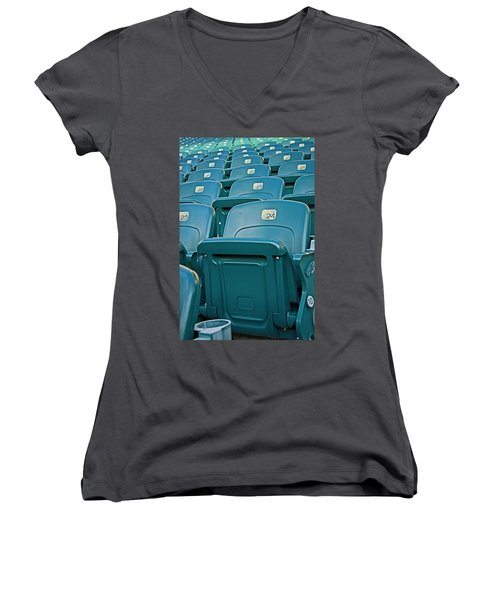 Awaiting The Crowds Women's V-Neck T-Shirt (Junior Cut) by Michael Porchik