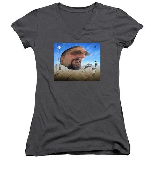 Awake . . A Sad Existence Women's V-Neck T-Shirt