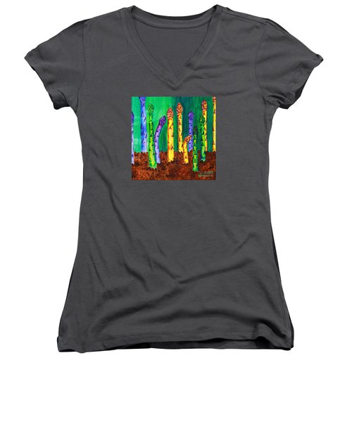 Awesome Asparagus Women's V-Neck (Athletic Fit)