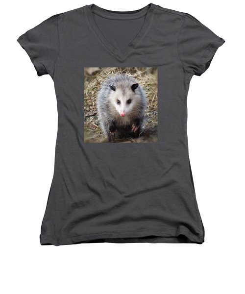 Awesome Possum Women's V-Neck (Athletic Fit)