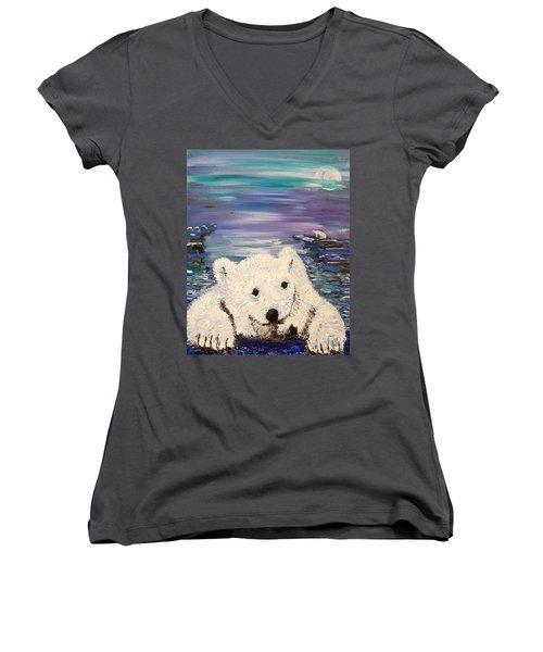 Baby Bear Women's V-Neck (Athletic Fit)