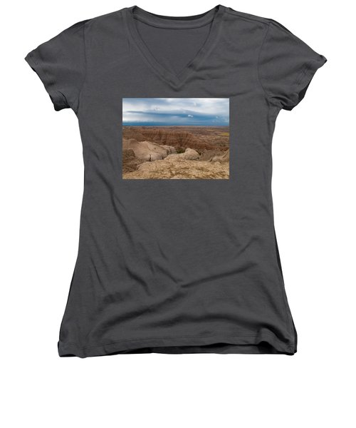 Badlands South Dakota Women's V-Neck T-Shirt