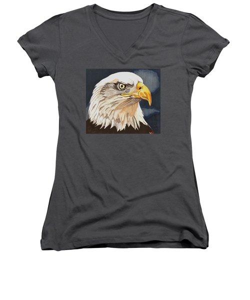 Bald Eagle Women's V-Neck (Athletic Fit)
