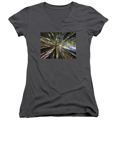 Bamboo Jungle Women's V-Neck