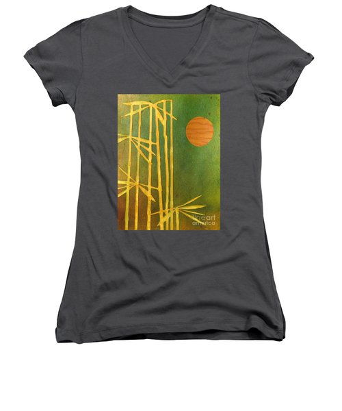 Bamboo Moon Women's V-Neck T-Shirt (Junior Cut) by Desiree Paquette
